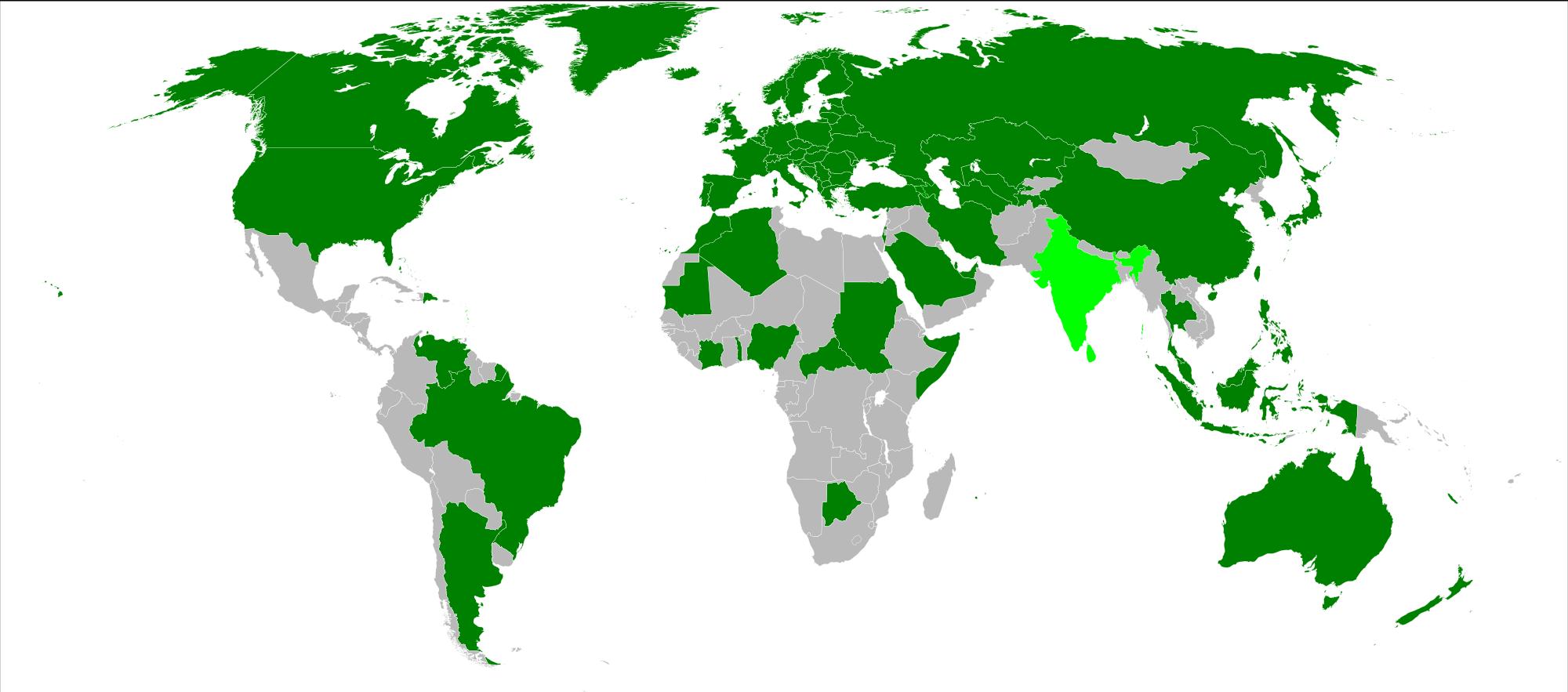 Карта распространненности биометрики