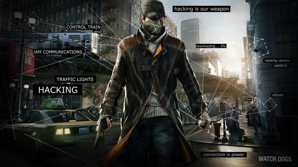 Рекламный постер видео игры Watch Dogs от Ubisoft