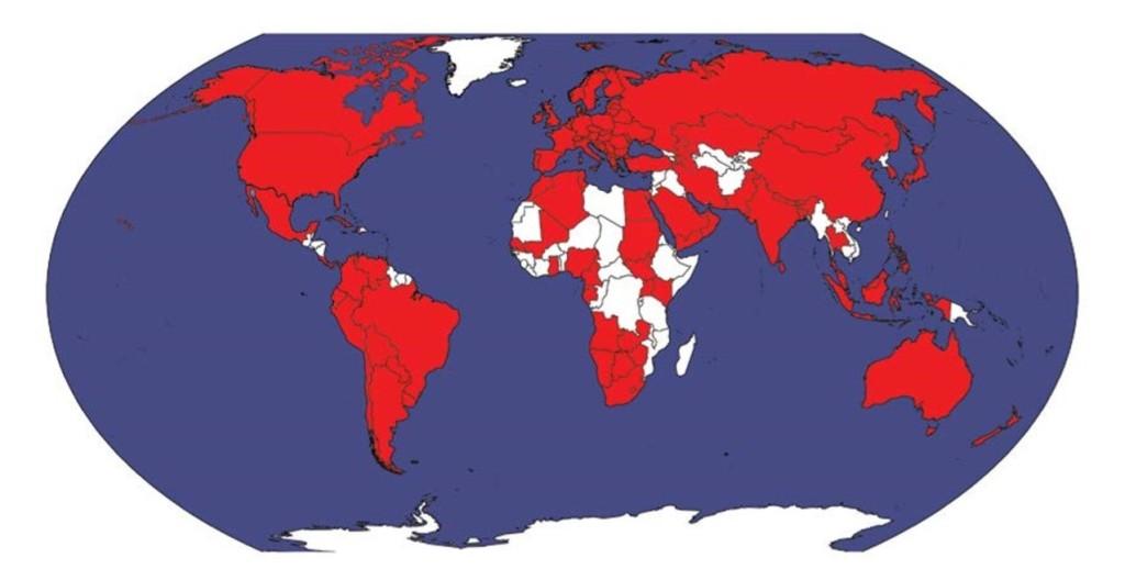 Рис. 1. Страны, представленные в ИКГ 2.0