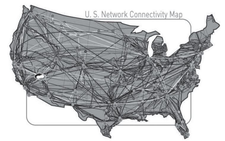 Internet Vulnerabilities Of Large Organizations Examining - Us internet map