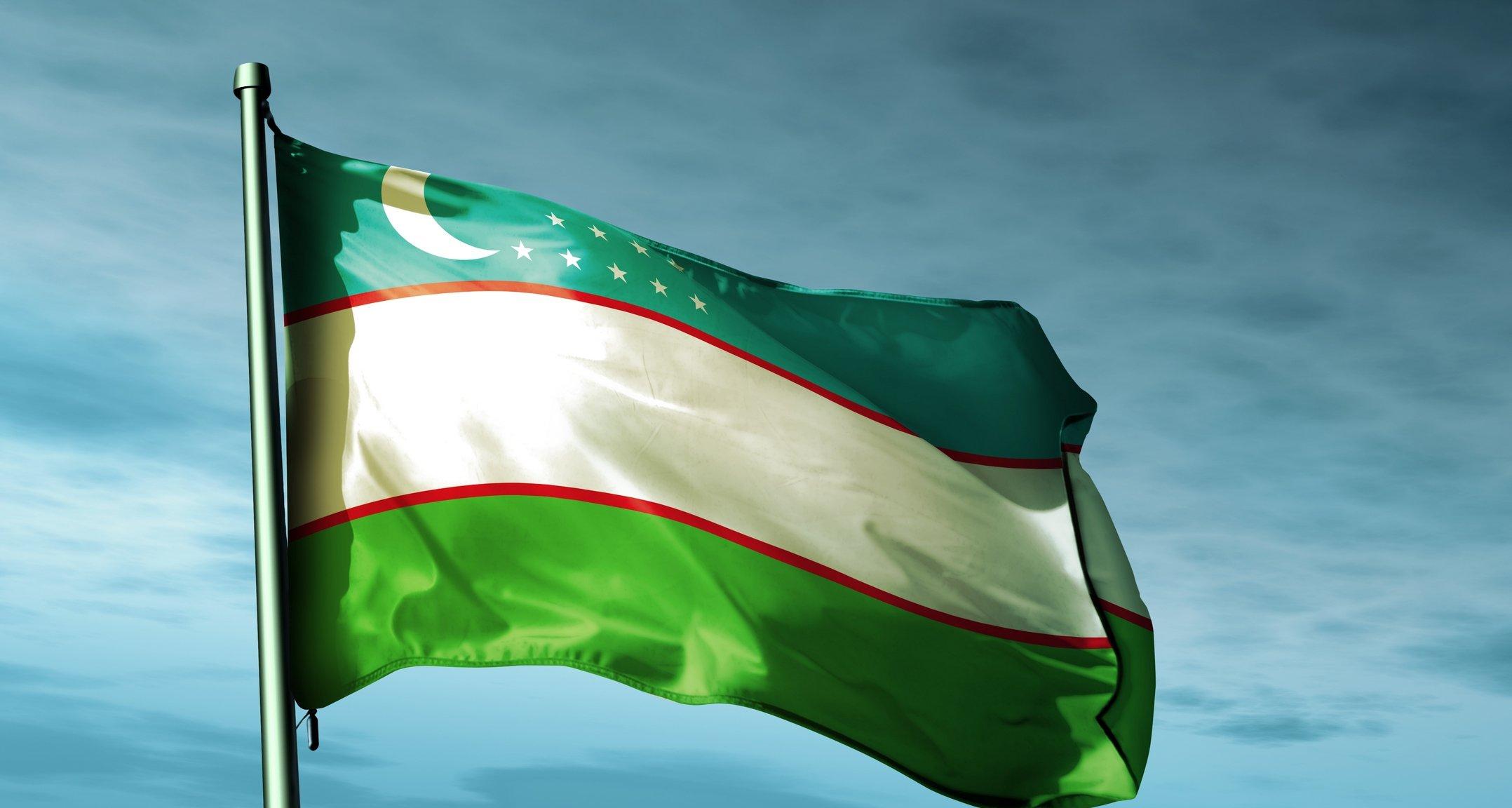 Узбекистан флаг