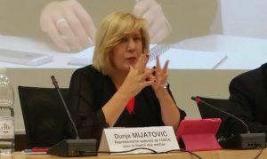 Представитель ОБСЕ по свободе СМИ Дуня Миятович