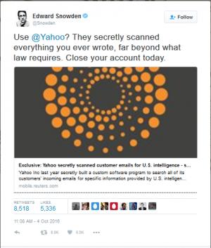 Эдвард Сноуден в Twitter обратился к пользователям