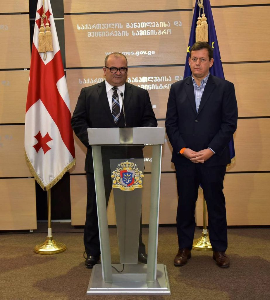 Майкл Коглер с министром образования Грузии