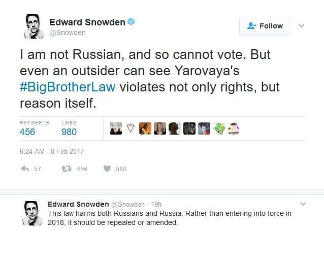 Twitter Эдварда Сноудена