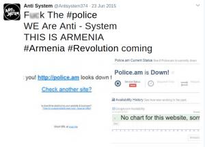 Первый твит группы Anti System