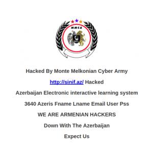 Так выглядели дебютные взломы Monte Melkonian Cyber Army