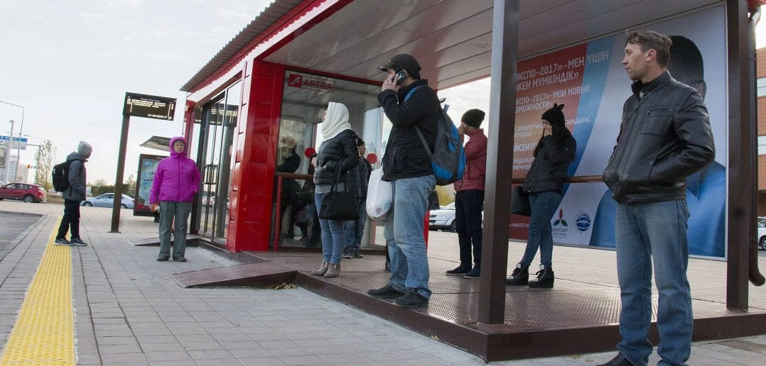 В столице Таджикистана появятся 36 «технологичных» остановок общественного транспорта