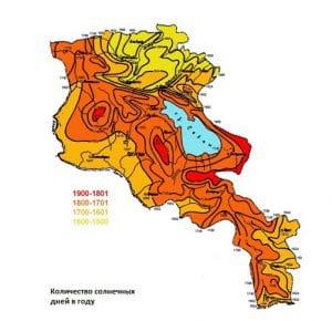 """""""Солнечная"""" карта Армении"""